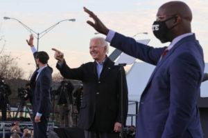 President-Elect Biden Campaigns With Democratic GA Senate Candidates. Control of senate