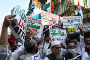Protest against Chinese government's policies towards Uyghurs