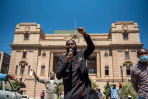 Church leaders peaceful protest against closure of churches in South Africa. Lockdowns
